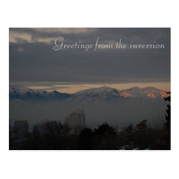 Inversion in Salt Lake City Postcard