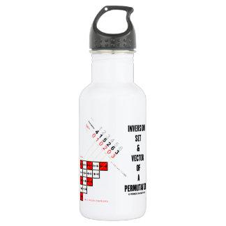 Inversion Set & Vector Of A Permutation 18oz Water Bottle