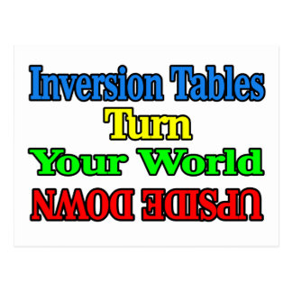 Inversion Tables Postcard