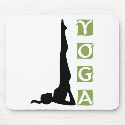Inversion Yoga Pose Gift Mouse Pad