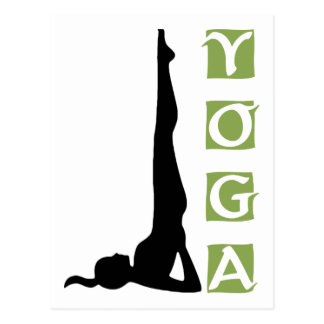 Inversion Yoga Pose Gift Postcard