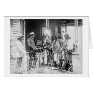 Inverso de los hombres de Cheyenne con blanco Tarjeta De Felicitación