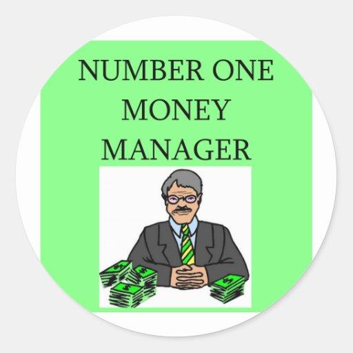inversor del mercado de acción de Wall Street Etiquetas Redondas