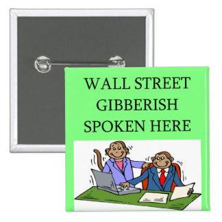 inversor del mercado de acción de Wall Street Pin