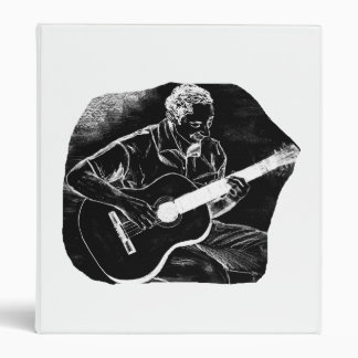 invert acoustic guitar pencil player sketch vinyl binder