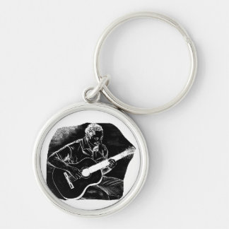 invert acoustic guitar pencil player sketch keychain