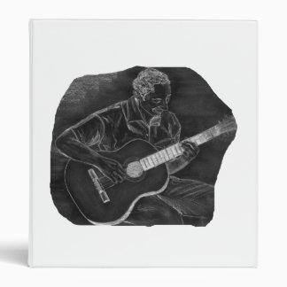 invert acoustic guitar player sit grey 3 ring binder