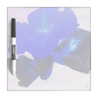invert blue flowers against pink dry erase white board