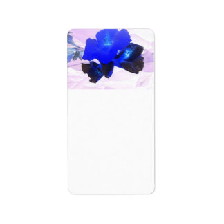 invert blue flowers against pink labels