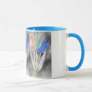 invert colored flowers mug