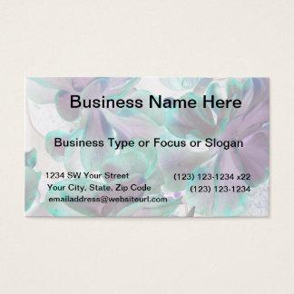 invert teal blue succulent flapjack plant business card