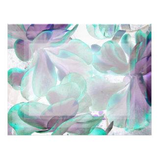 invert teal blue succulent flapjack plant letterhead