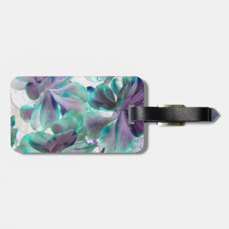 invert teal blue succulent flapjack plant luggage tag