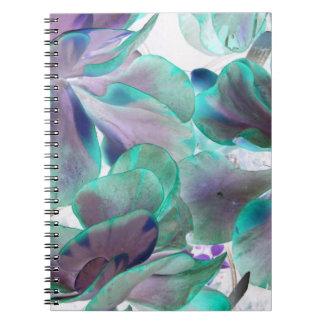 invert teal blue succulent flapjack plant notebook