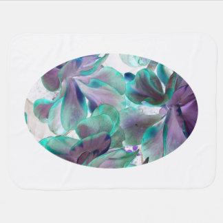 invert teal blue succulent flapjack plant swaddle blanket