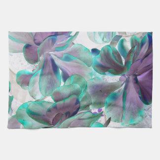 invert teal blue succulent flapjack plant towels