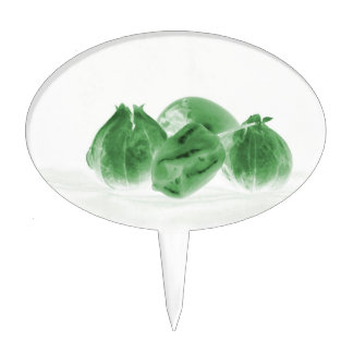 invert tomatillo green persimmion pepper food cake topper