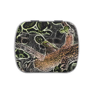 invert tree frog in tree painting cute animal jelly belly candy tins