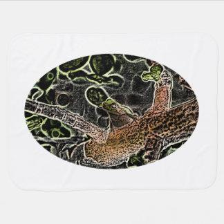 invert tree frog in tree painting cute animal stroller blanket