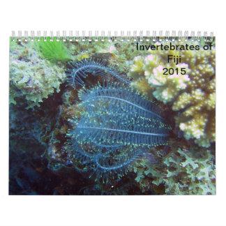 Invertebrados del calendario de Fiji 2015