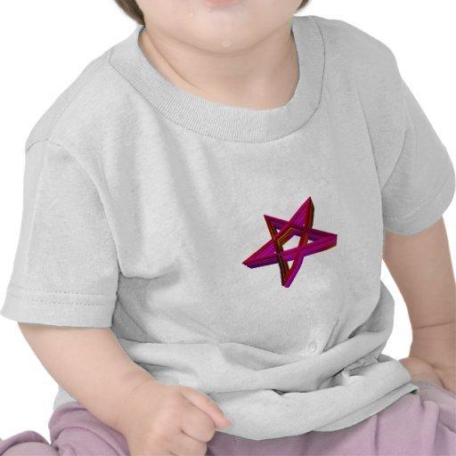 Inverted 3-D Pentagram Shirts