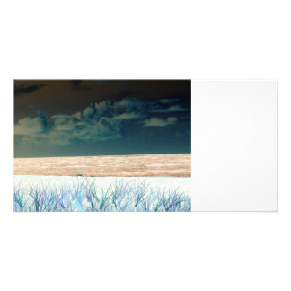 inverted beach sky neat abstract florida shore picture card