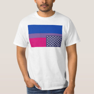 Inverted bisexual flag with union stars T-Shirt