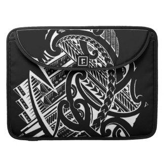inverted black samoan tattoo design tribal artwork MacBook pro sleeve