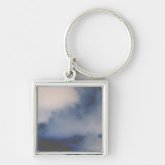 Inverted Cloud Marble like background Keychain