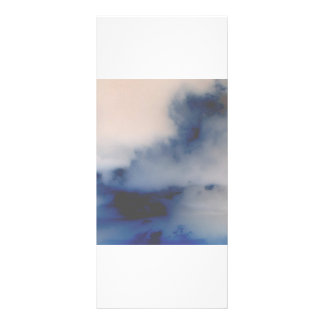 Inverted Cloud Marble like background Personalized Rack Card