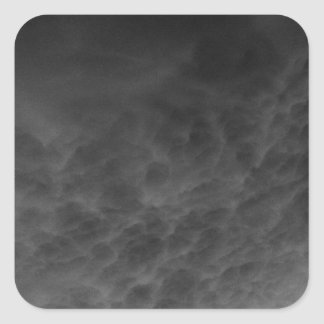 Inverted Clouds Gray Sky Photomanipulation Square Sticker