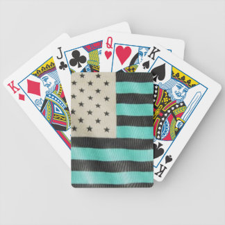 Inverted colors flag deck bicycle playing cards
