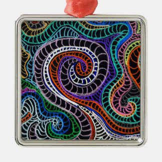 inverted colorz square metal christmas ornament