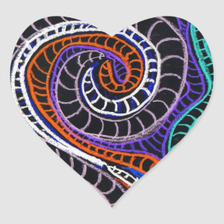 inverted colorz heart sticker