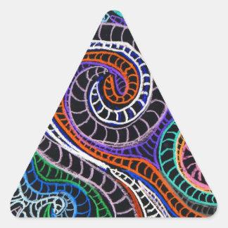 inverted colorz triangle sticker