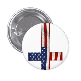 Inverted Cross America Pinback Button