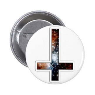 Inverted Cross Galaxy Cosmic Universe Pinback Button