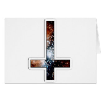 Inverted Cross Galaxy Cosmic Universe Card