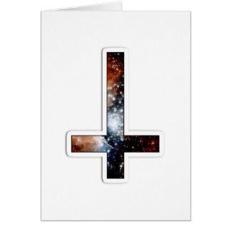 Inverted Cross Galaxy Cosmic Universe Card