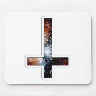 Inverted Cross Galaxy Cosmic Universe Mouse Pad