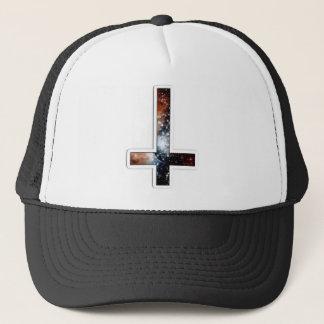 Inverted Cross Galaxy Cosmic Universe Trucker Hat