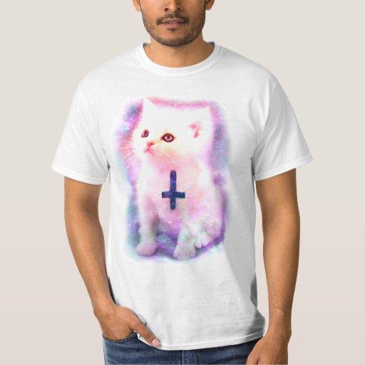 Inverted Cross Kitten T-shirt