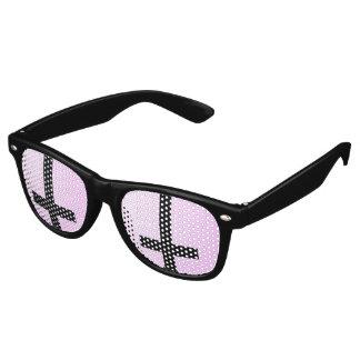 Inverted Cross Retro Sunglasses