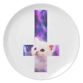 Inverted Cross Space Kitten Plate