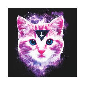 Inverted Cross & Triangle Cat Print