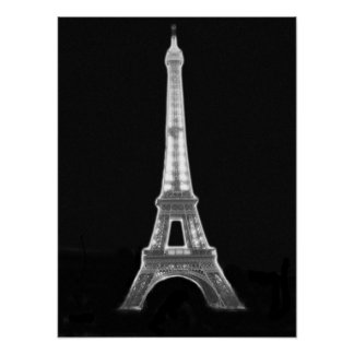 Inverted Eiffel Tower Poster