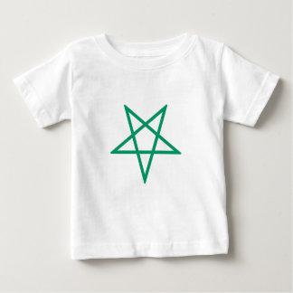Inverted Green Pentagram Baby T-Shirt