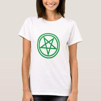 Inverted Green Pentagram T-Shirt