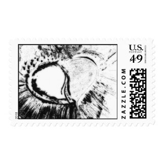 inverted heart postage