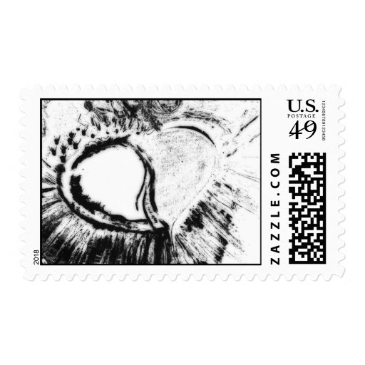 inverted heart stamp